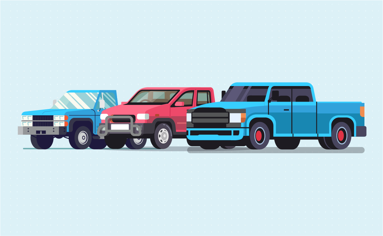 3 kinds of pickup truck
