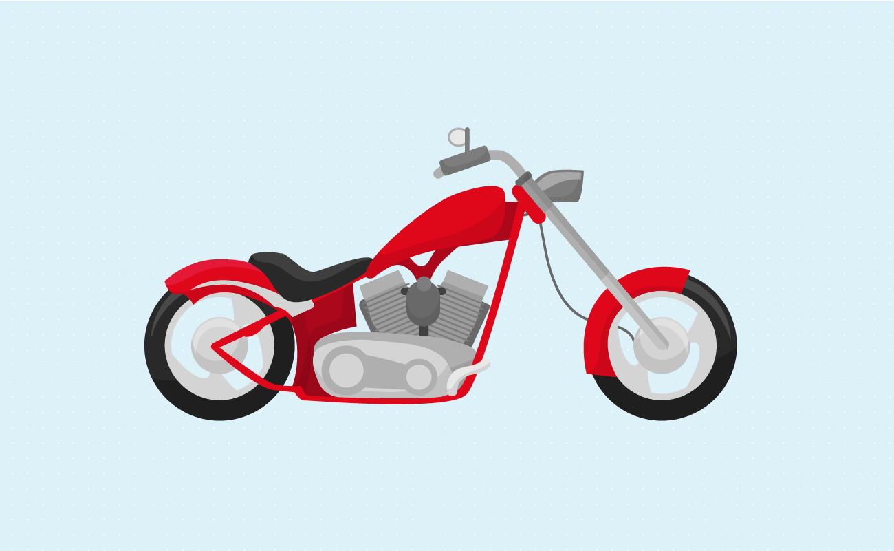 Illustration of a Cruiser Motorcycle.