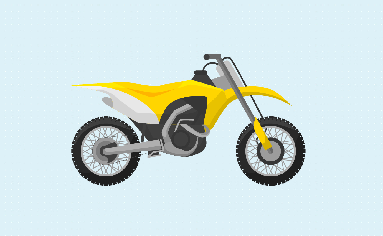Illustration of an off-road Motorcycle.