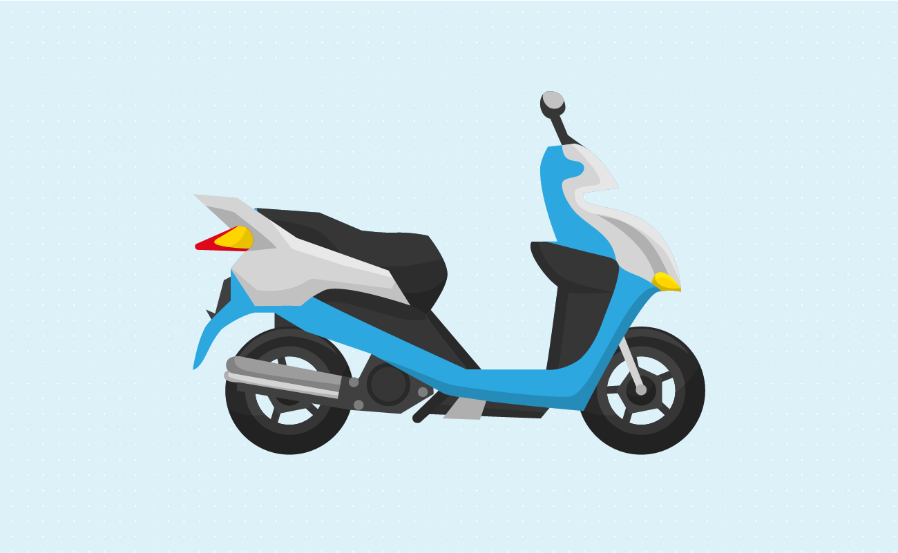 Illustration of a Scooter.