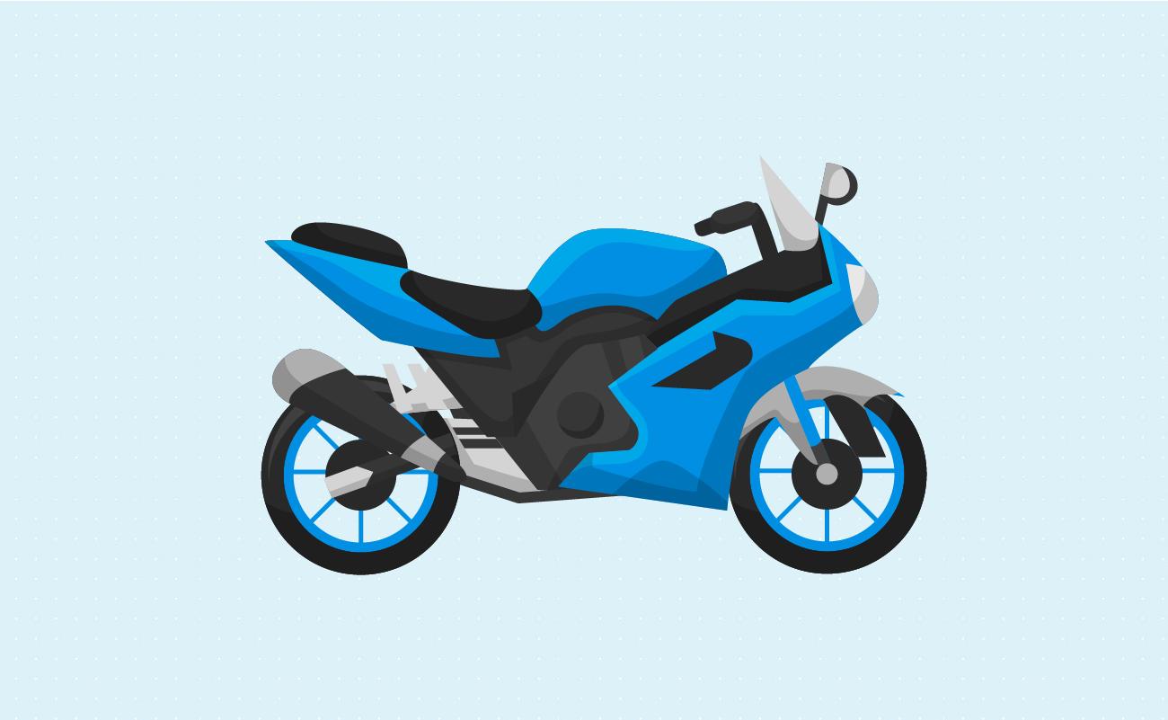 Standard Mortorcycle Illustration.