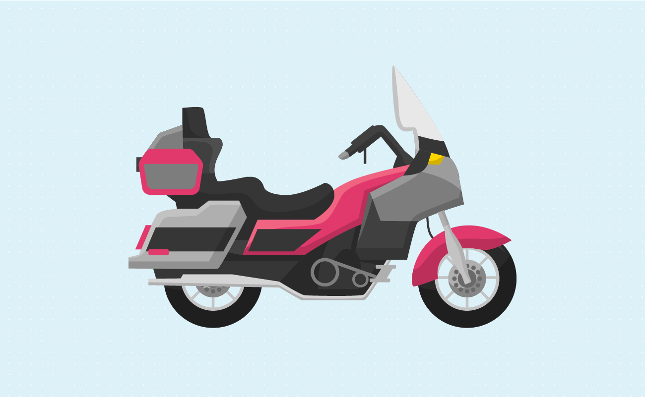 Illustration of a Touring Motorcycle.