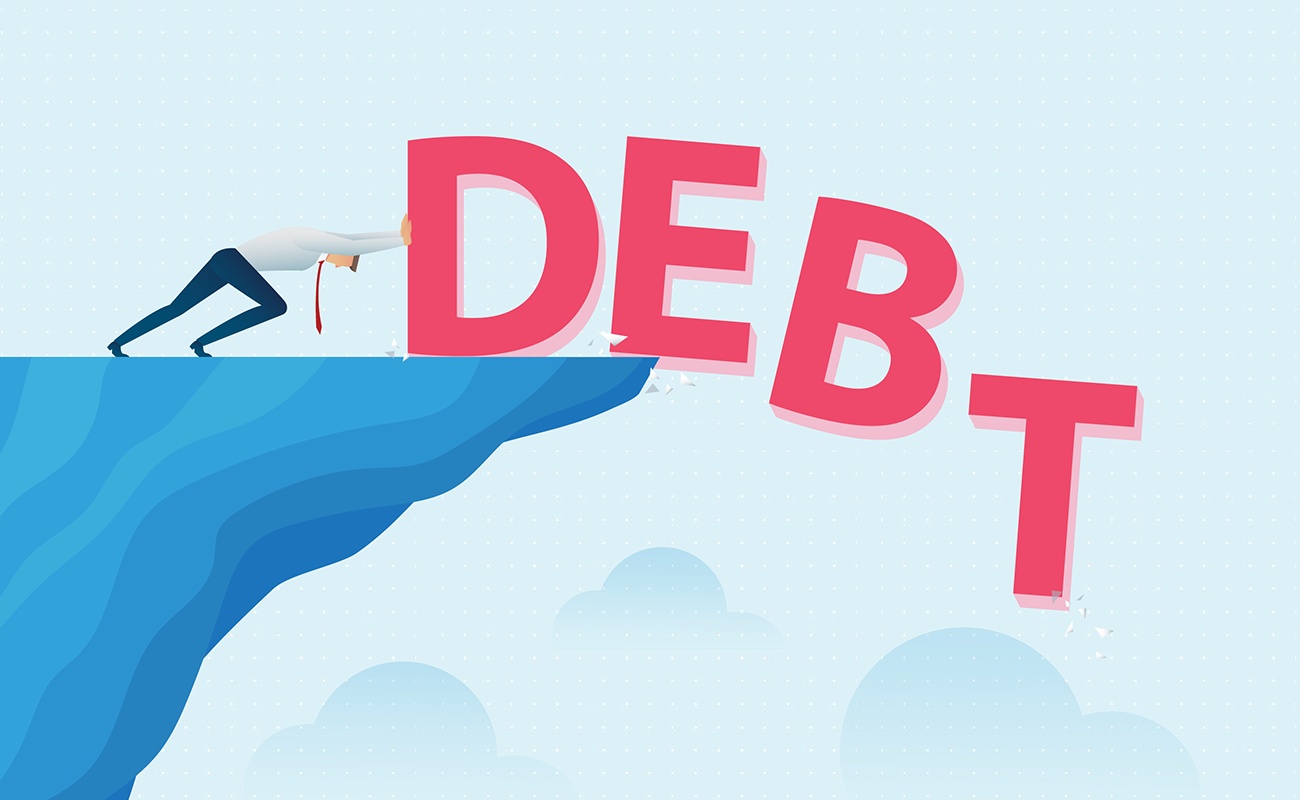 Pushing debt out of your life.