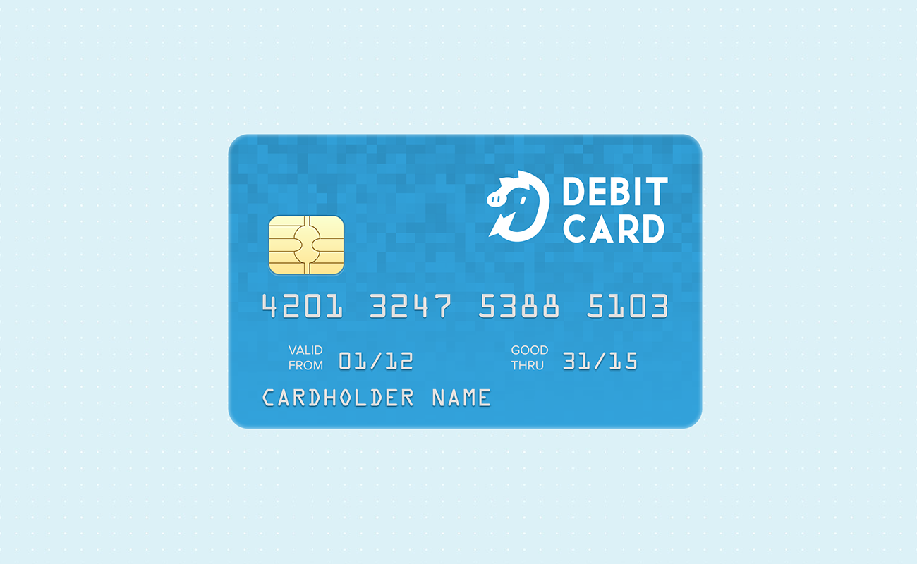 Use a debit card instead